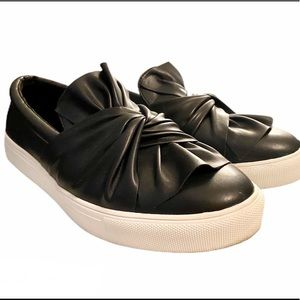 M.I.A. faux leather gathered knot slip on sneakers
